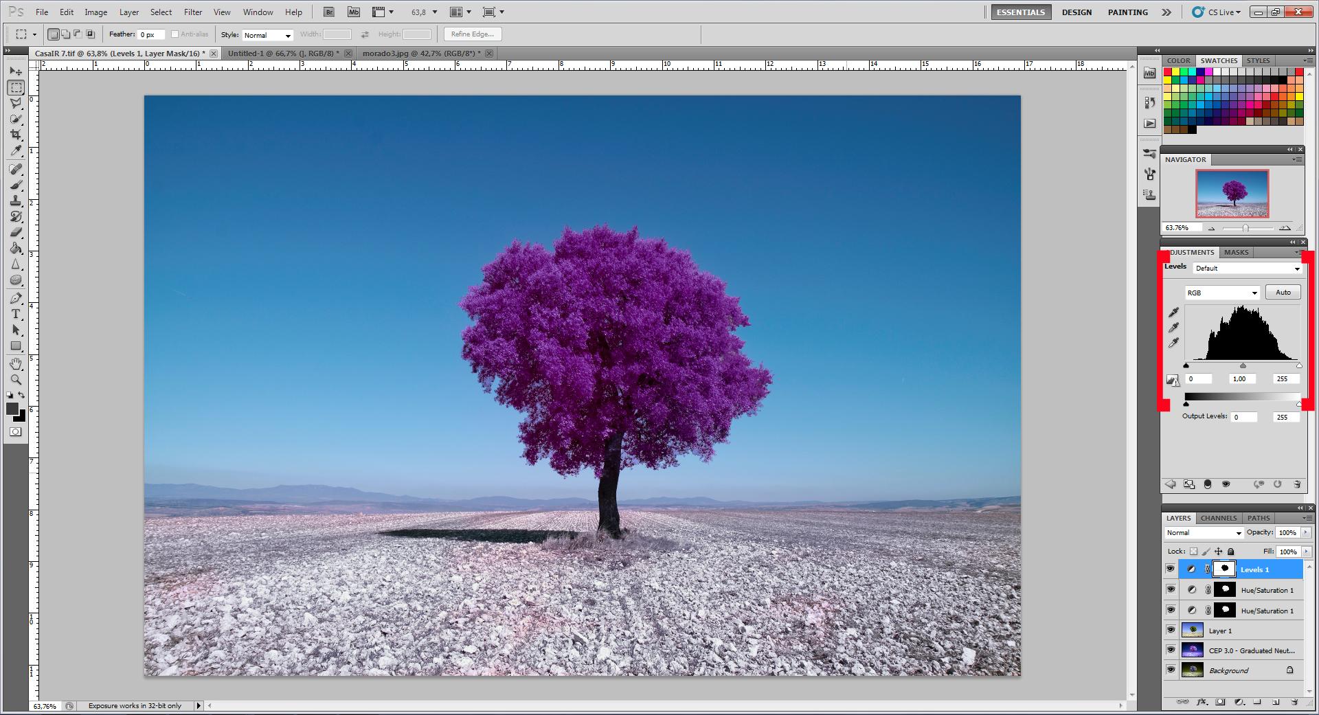 Как превратить пейзажное фото в сюрреалистическое инфракрасное изображение - 11