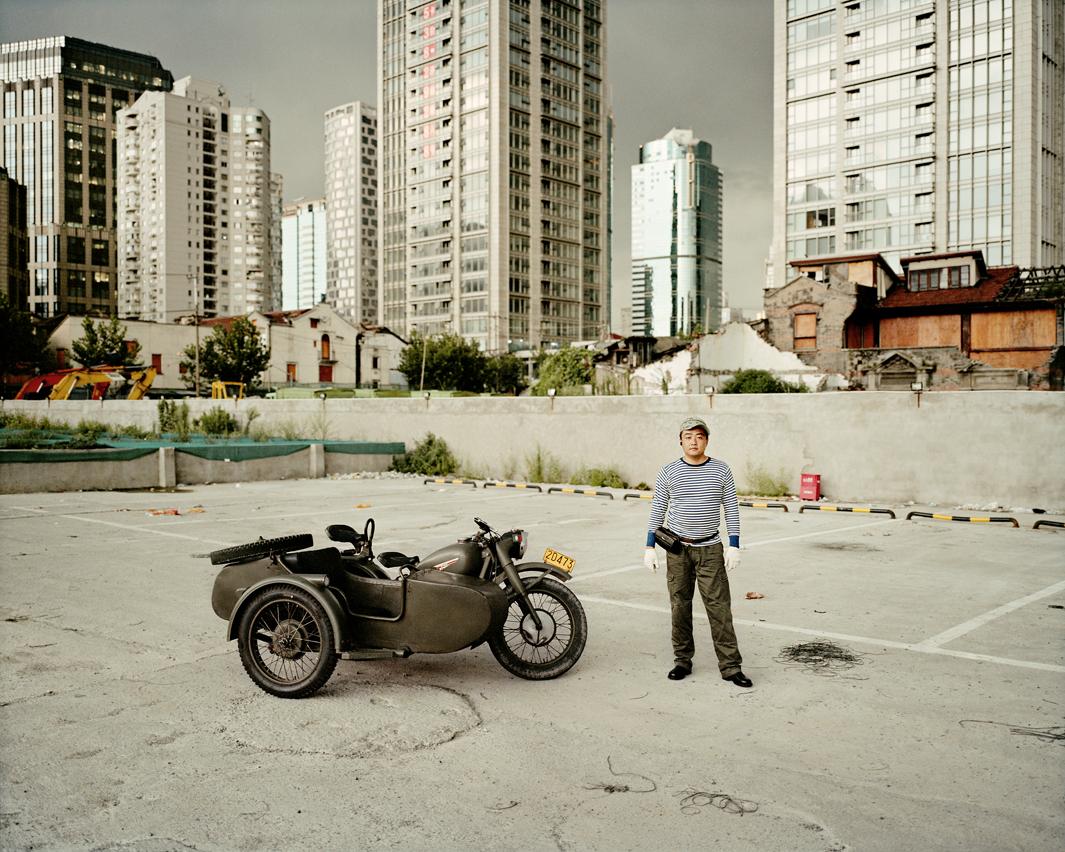 Байкеры Шанхая и их мотоциклы с колясками. Фотограф Орельен Шово - 1