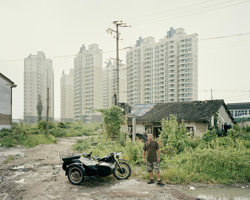 Байкеры Шанхая и их мотоциклы с колясками. Фотограф Орельен Шово - 2
