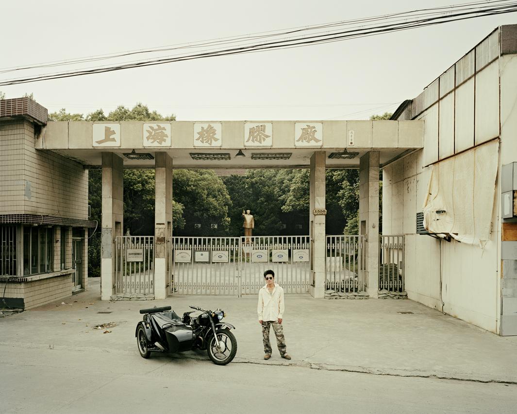 Байкеры Шанхая и их мотоциклы с колясками. Фотограф Орельен Шово - 3
