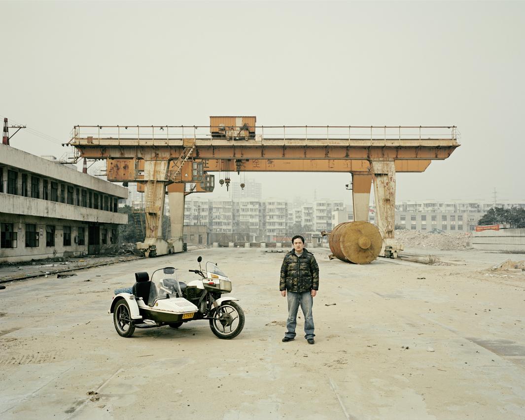Байкеры Шанхая и их мотоциклы с колясками. Фотограф Орельен Шово - 8