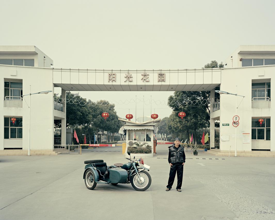 Байкеры Шанхая и их мотоциклы с колясками. Фотограф Орельен Шово - 10