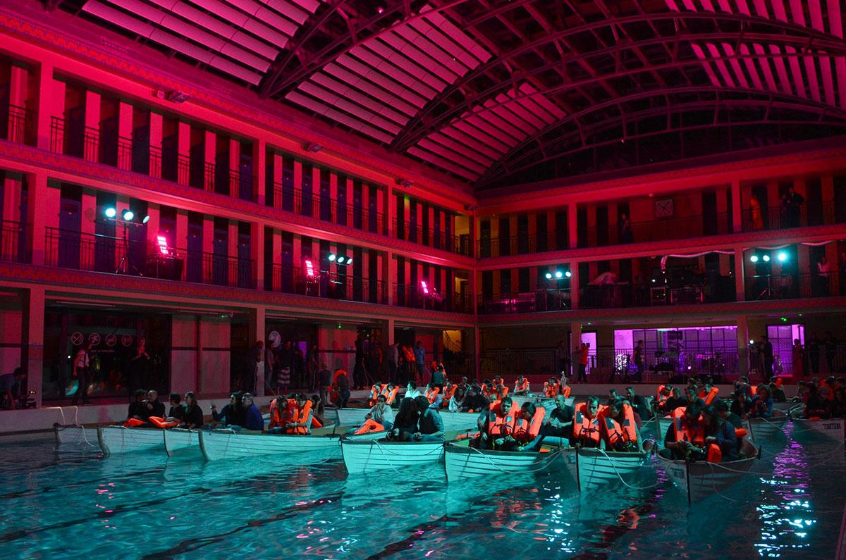 Кинотеатр в бассейне Pailleron, Париж, Франция-2