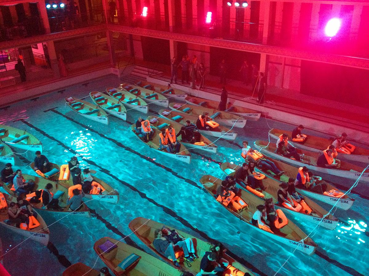 Кинотеатр в бассейне Pailleron, Париж, Франция-1