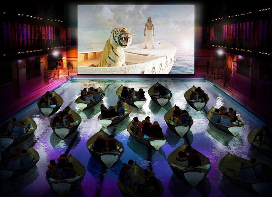 Кинотеатр в бассейне Pailleron, Париж, Франция