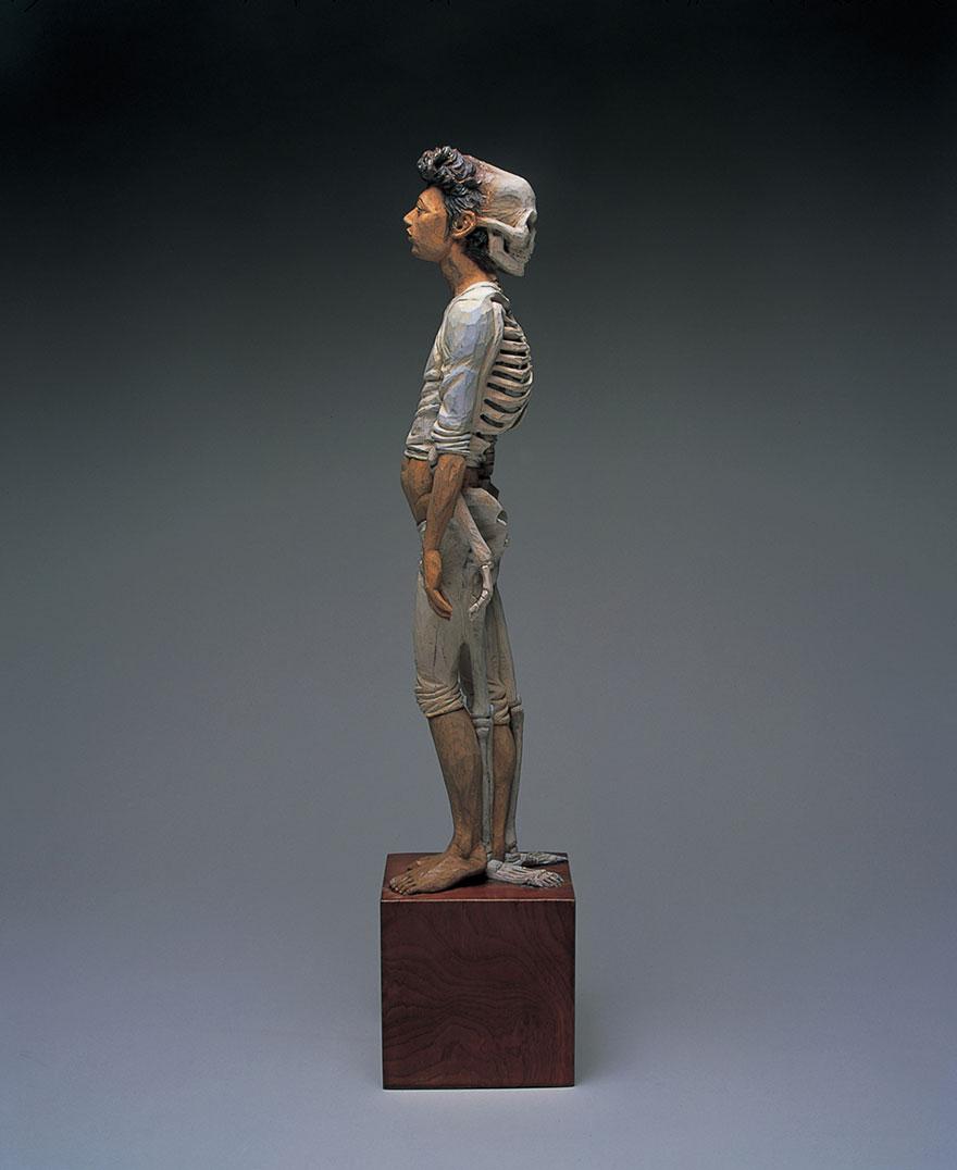 Сюрреалистические деревянные скульптуры Йошитоши Канемаки-17