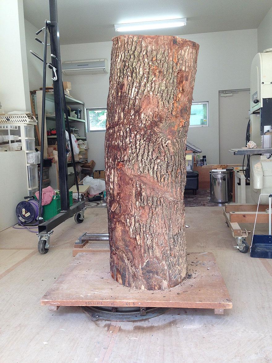 Сюрреалистические деревянные скульптуры Йошитоши Канемаки-2