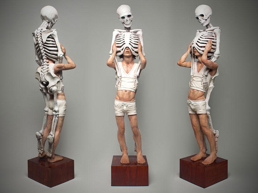 Сюрреалистические деревянные скульптуры Йошитоши Канемаки-18