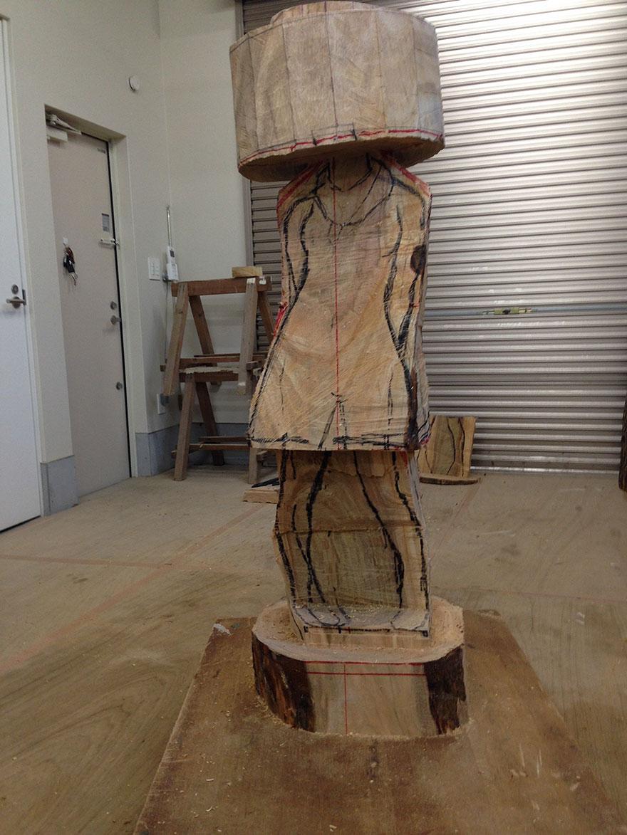 Сюрреалистические деревянные скульптуры Йошитоши Канемаки-6