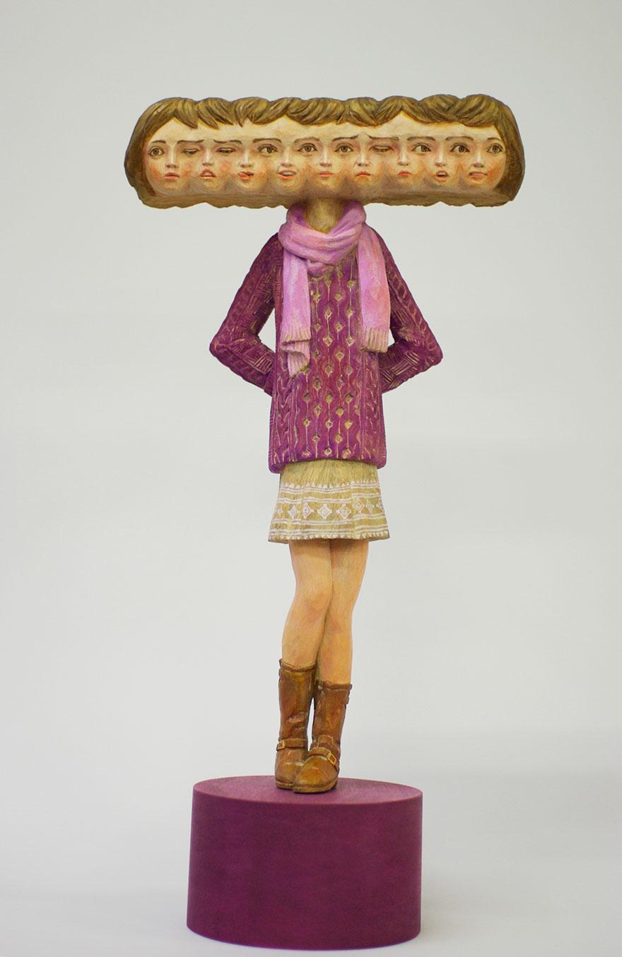 Сюрреалистические деревянные скульптуры Йошитоши Канемаки-13