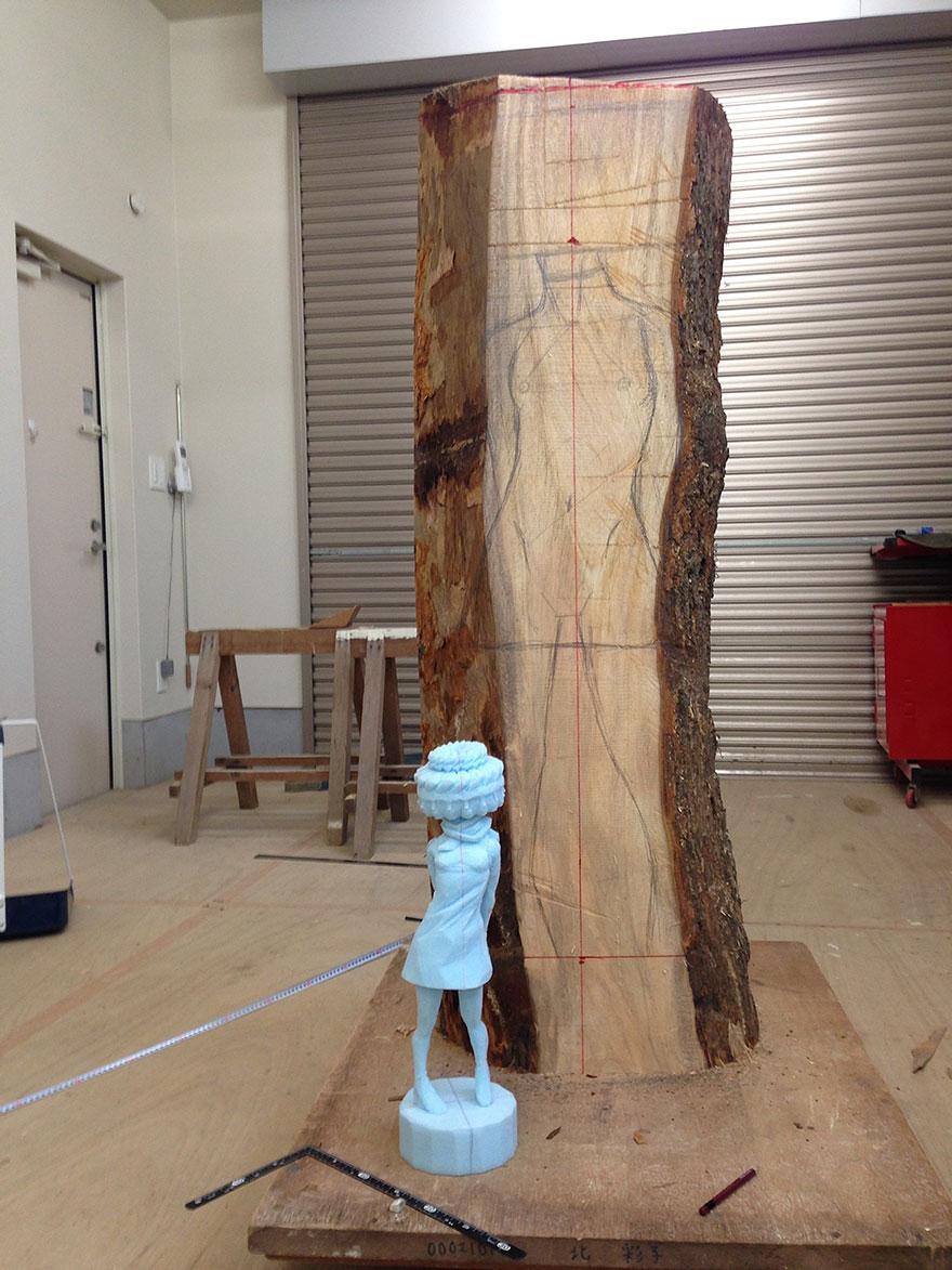 Сюрреалистические деревянные скульптуры Йошитоши Канемаки-5