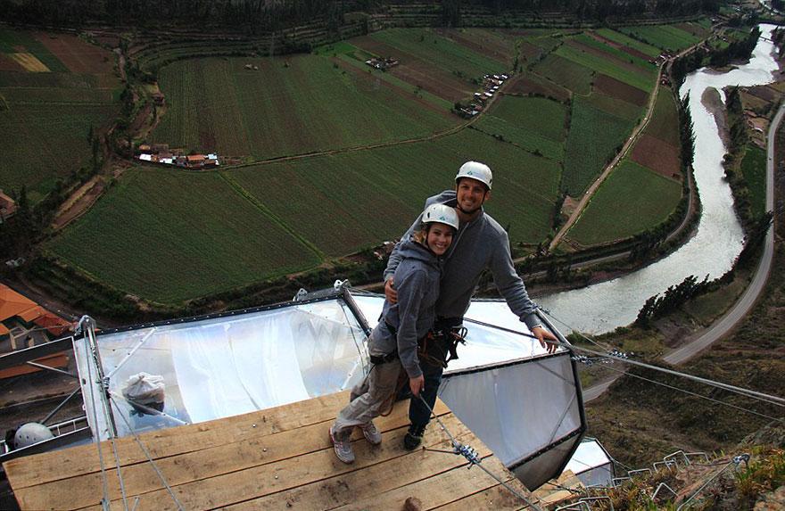 Прозрачный отель для экстремалов в перуанских Андах над Священной долиной-4
