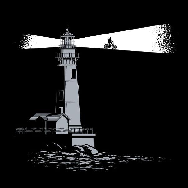 Иллюстрации с оптическими иллюзиями
