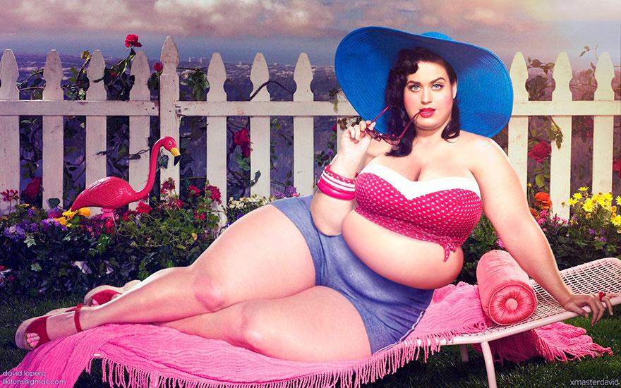 Эксперимент в фотошопе: толстые знаменитости от Давида Лопера-10