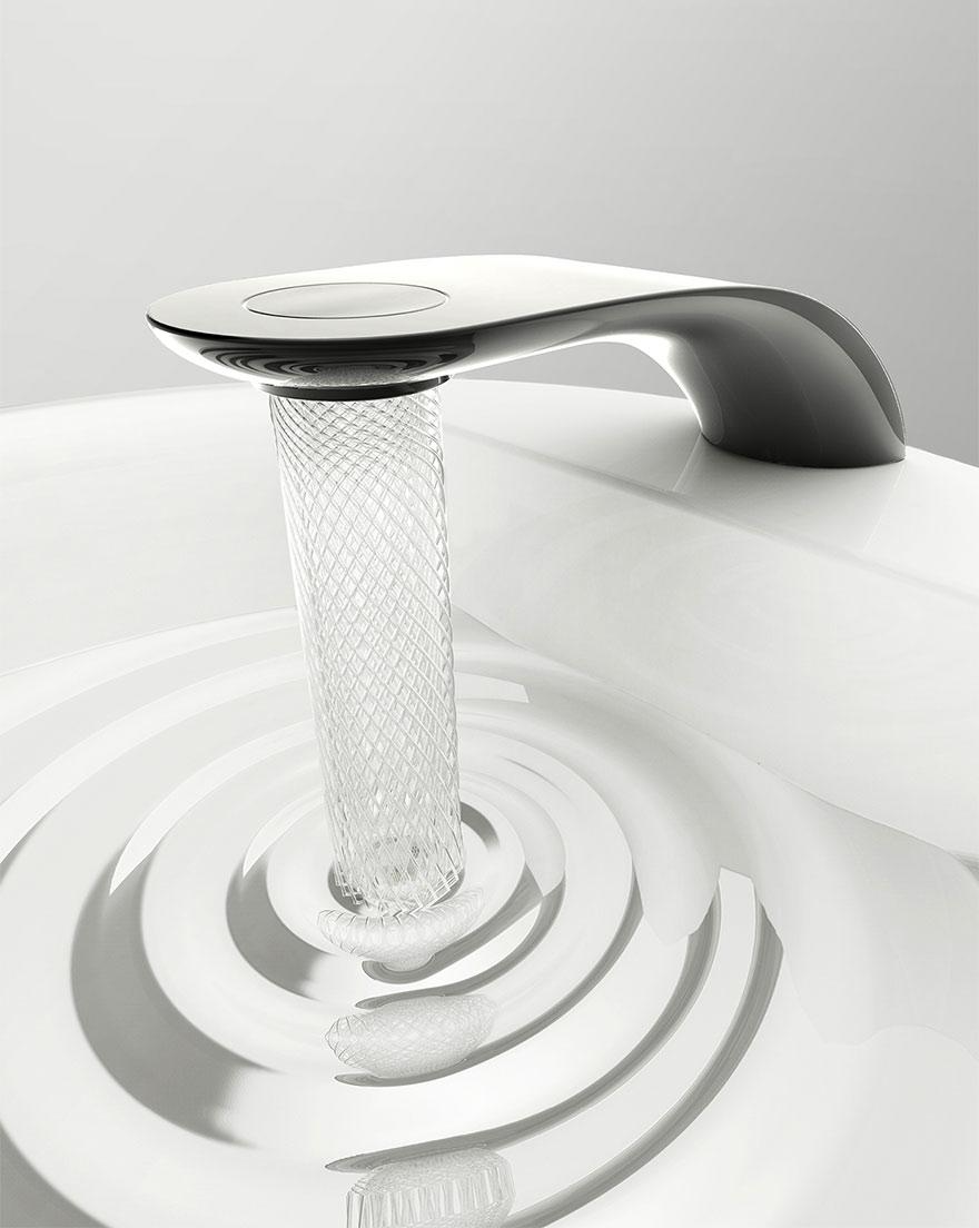 Кран от студента-дизайнера экономит воду и превращает её в красивые узоры-5