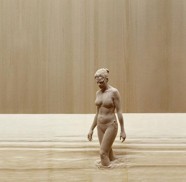 Невероятно реалистичные деревянные скульптуры людей-4