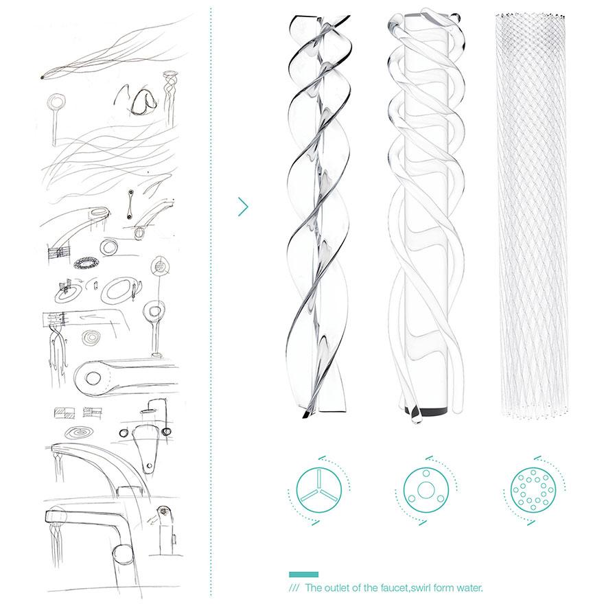Кран от студента-дизайнера экономит воду и превращает её в красивые узоры-1