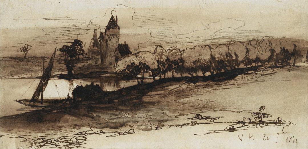 5-Виктор Гюго не только знаменитый писатель, но и талантливый художник