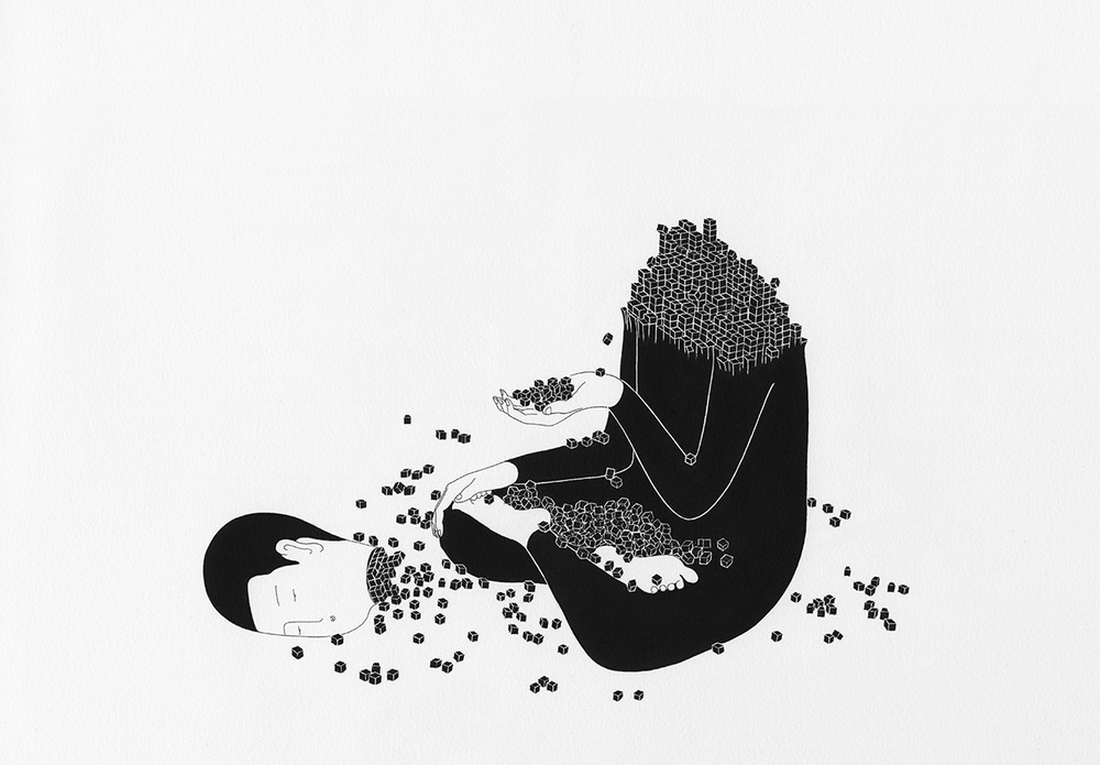 Сюрреалистические рисунки художника из Южной Кореи Дэ Хен Ким - 2