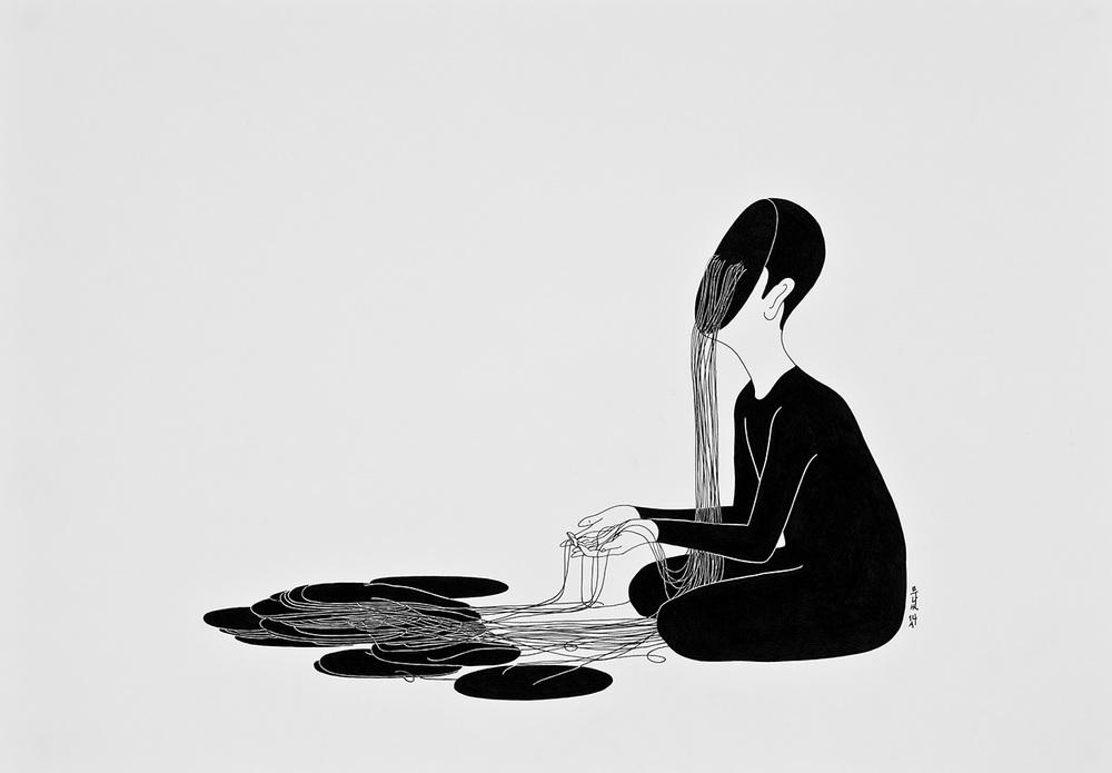 Сюрреалистические рисунки художника из Южной Кореи Дэ Хен Ким - 10