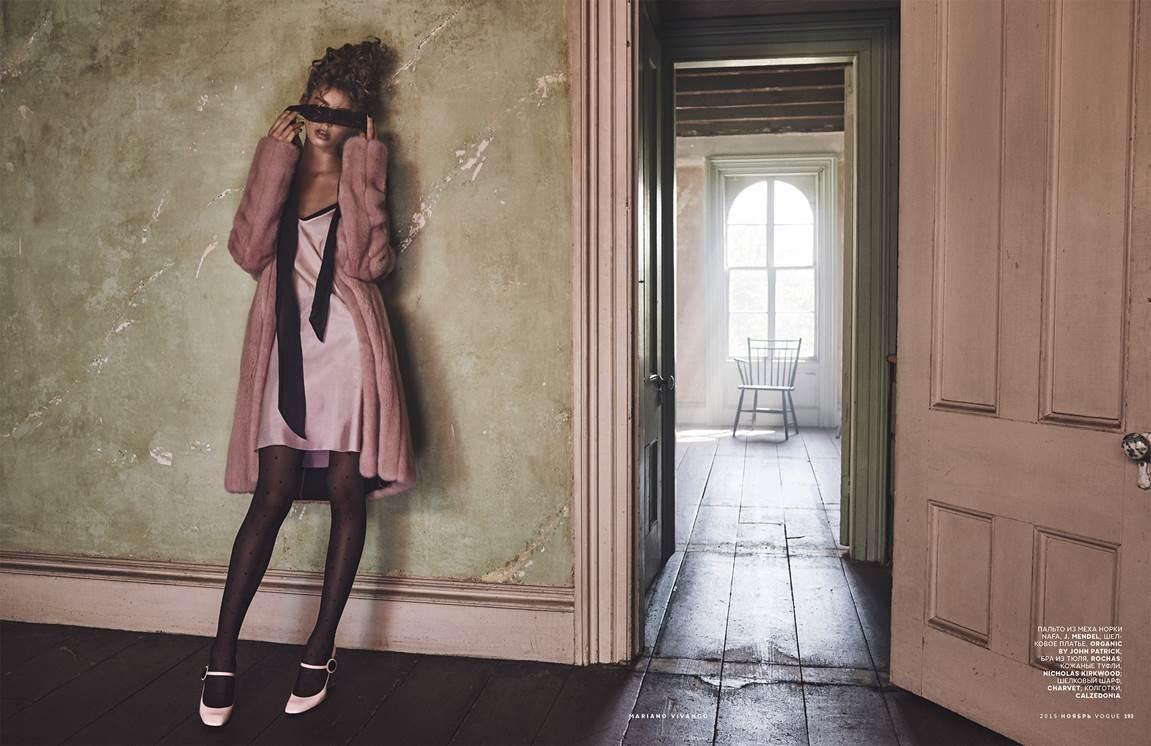 Ондриа Хардин в фотосессии для ноябрьского журнала Vogue Россия