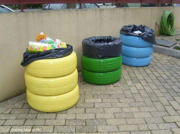 Что можно сделать из мусора своими руками на даче