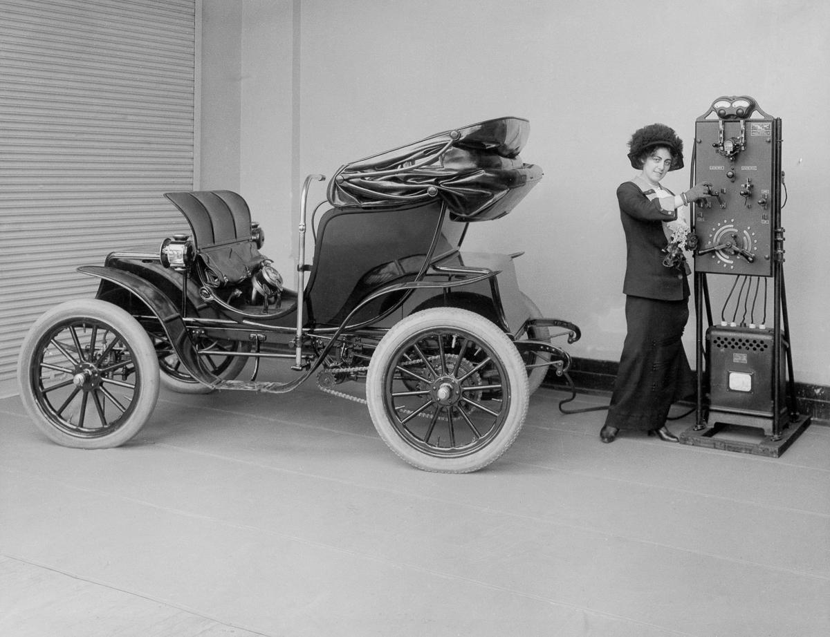 Pervye elektromobili retro foto 12
