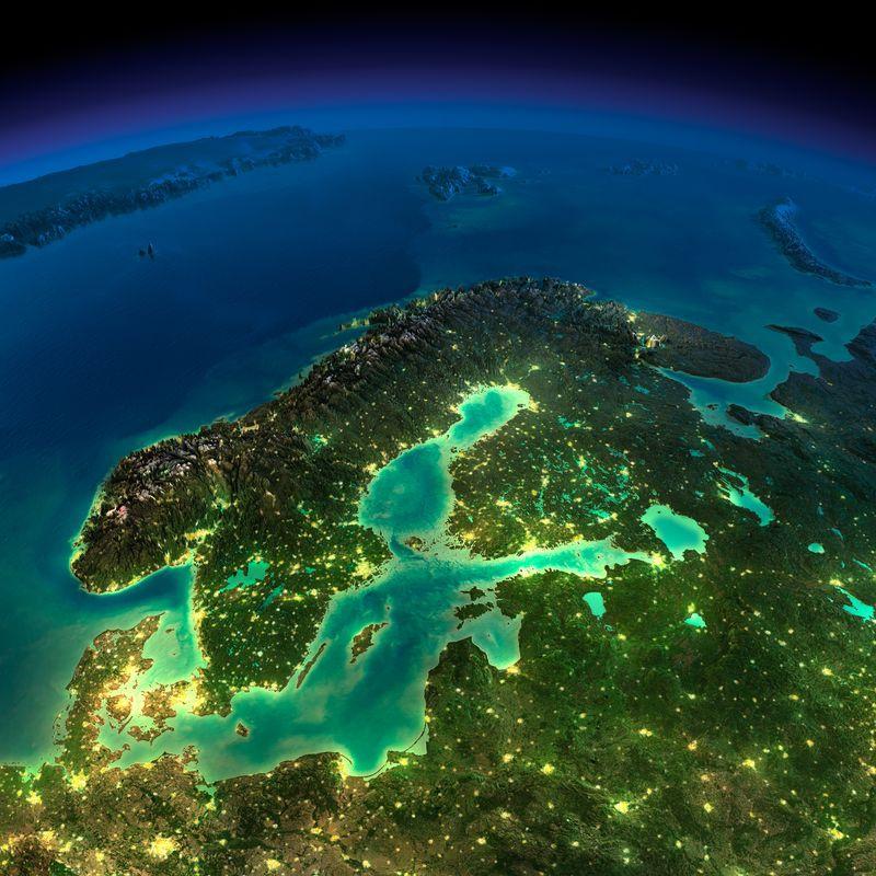 Zemlya nochyu foto iz kosmosa 16