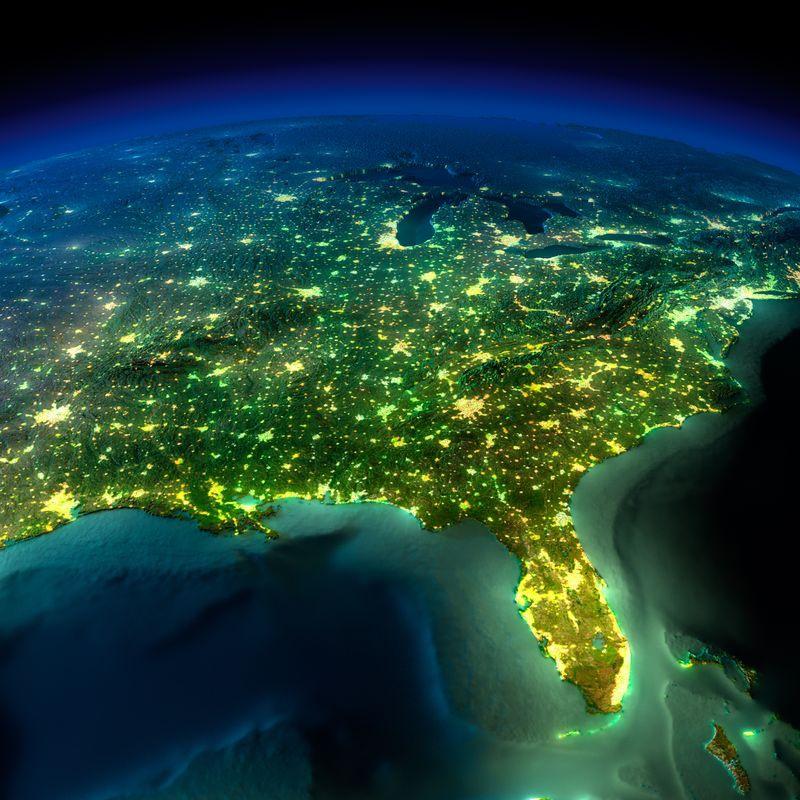 Zemlya nochyu foto iz kosmosa 5