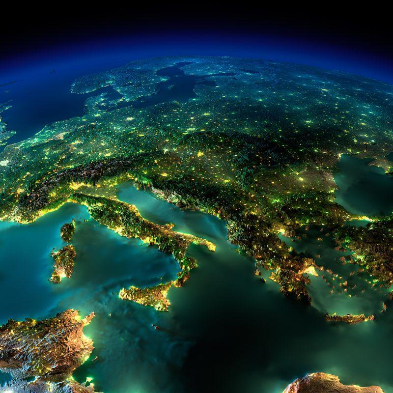 Zemlya nochyu foto iz kosmosa 8