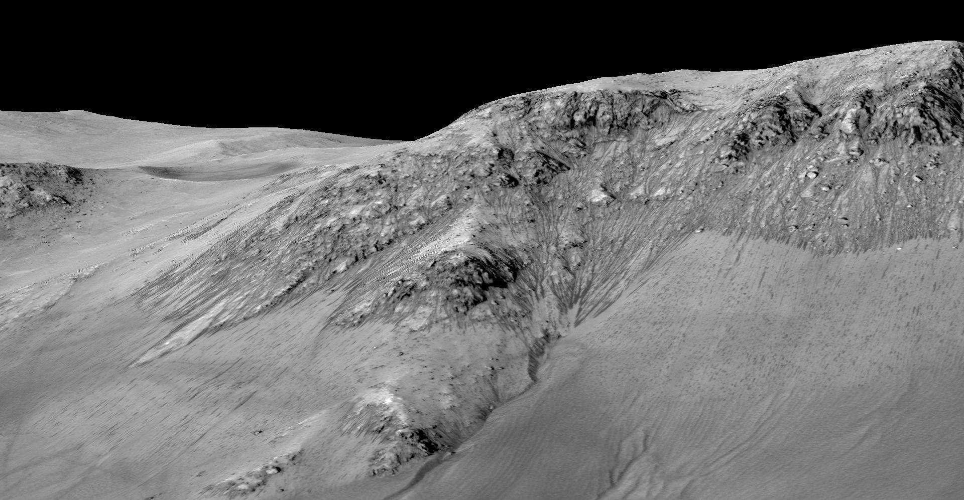 zhidkaya voda na Marse fotografii NASA 5