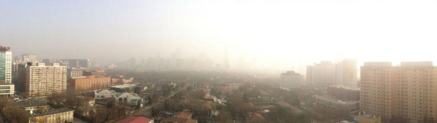 В Пекине приостановили работу заводов и автомобильное движение, чтобы показать жителям чистое небо-2