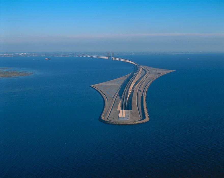 Колоссальный Эресуннский мост превращается в подводный тоннель, чтобы соединить Данию и Швецию-10