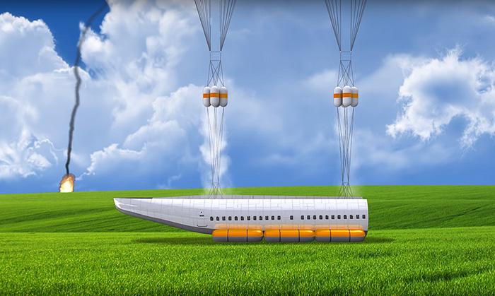 Этот самолёт сбрасывает салон в чрезвычайной ситуации