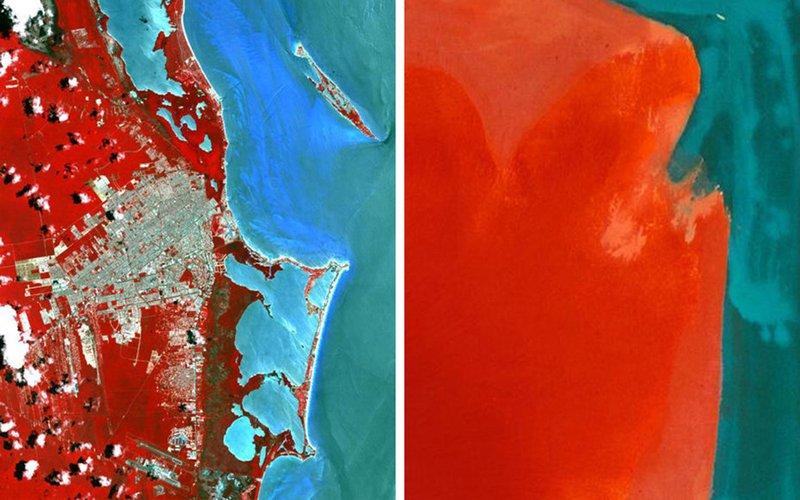Foto iz kosmosa i znamenitye kartiny 6