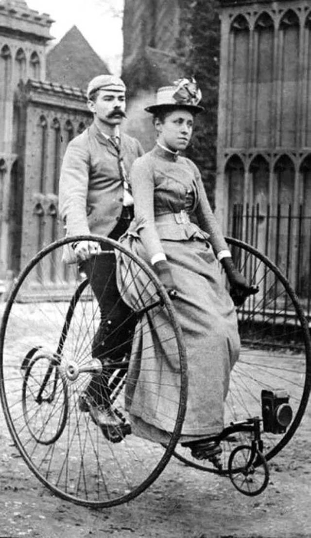 retro fotografii o strannyh velosipedah 11