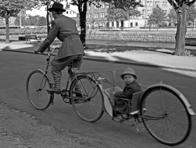 retro fotografii o strannyh velosipedah 14
