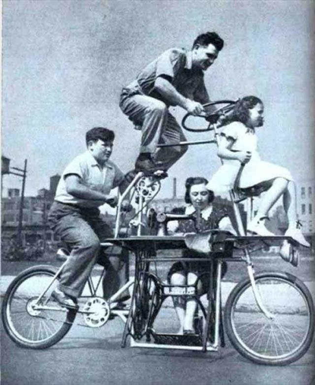 retro fotografii o strannyh velosipedah 19