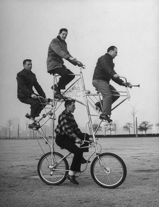 retro fotografii o strannyh velosipedah 5