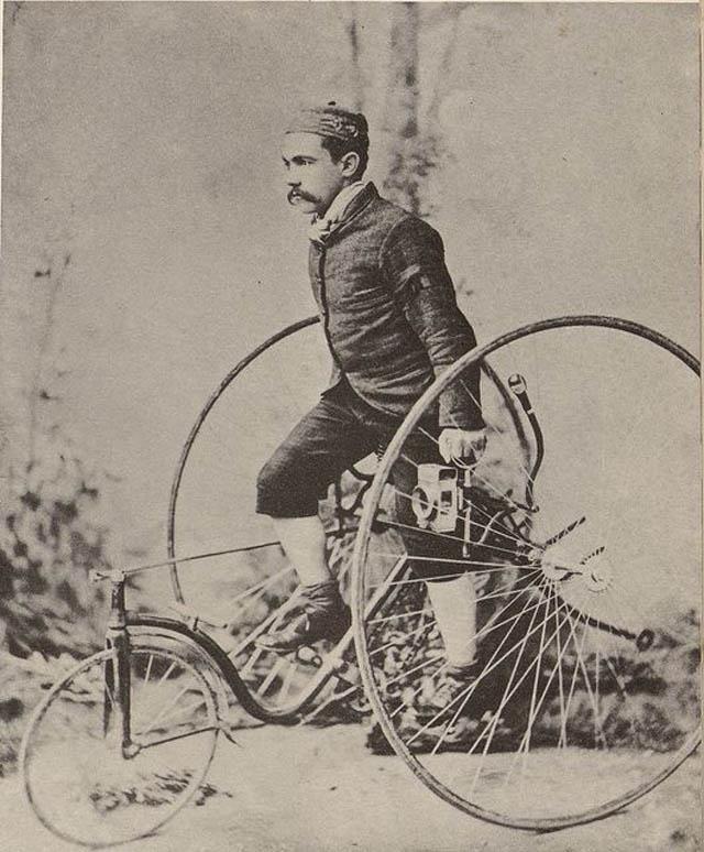 retro fotografii o strannyh velosipedah 8