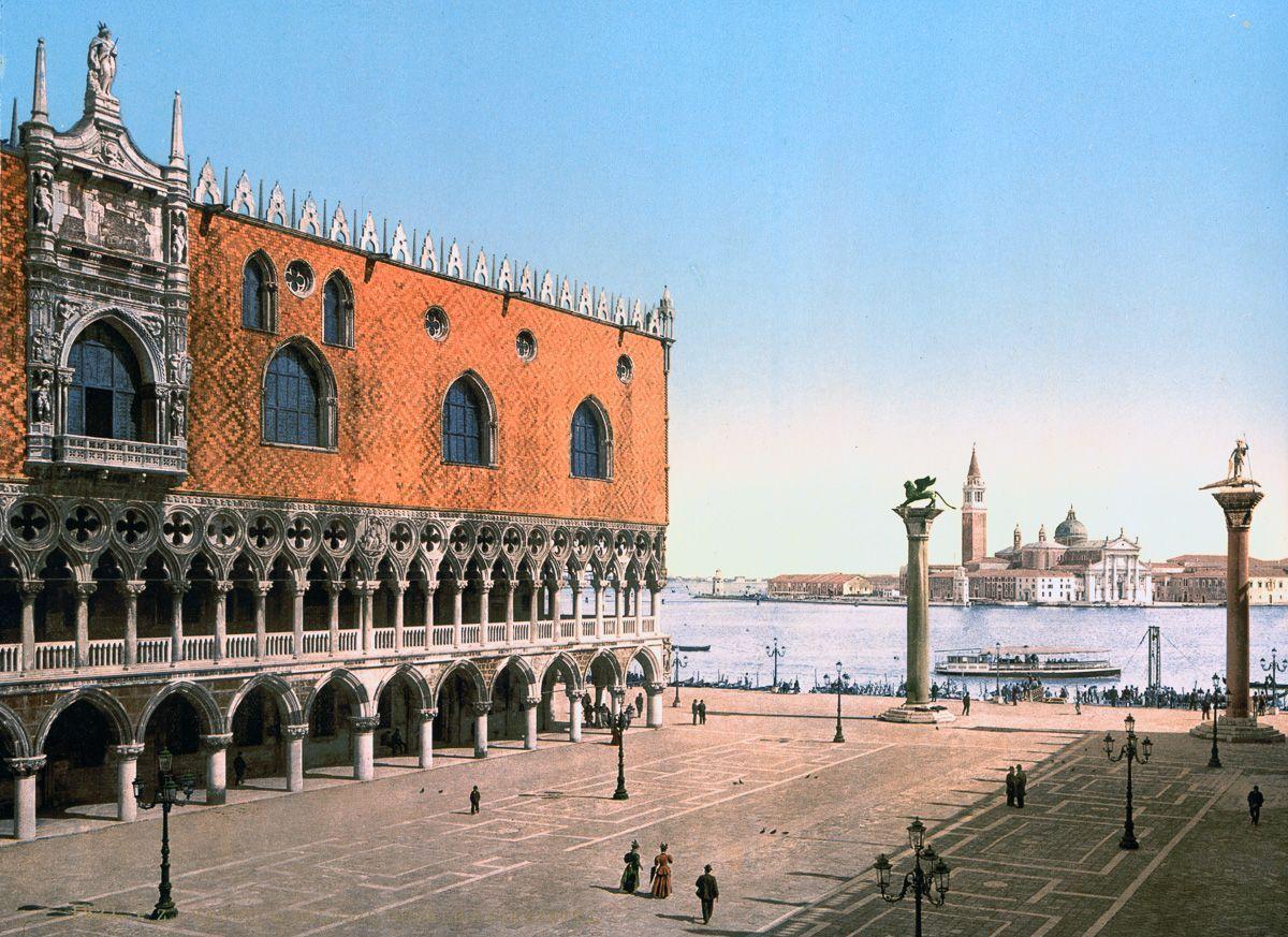 Венеция в цветных открытках 1890 года 10