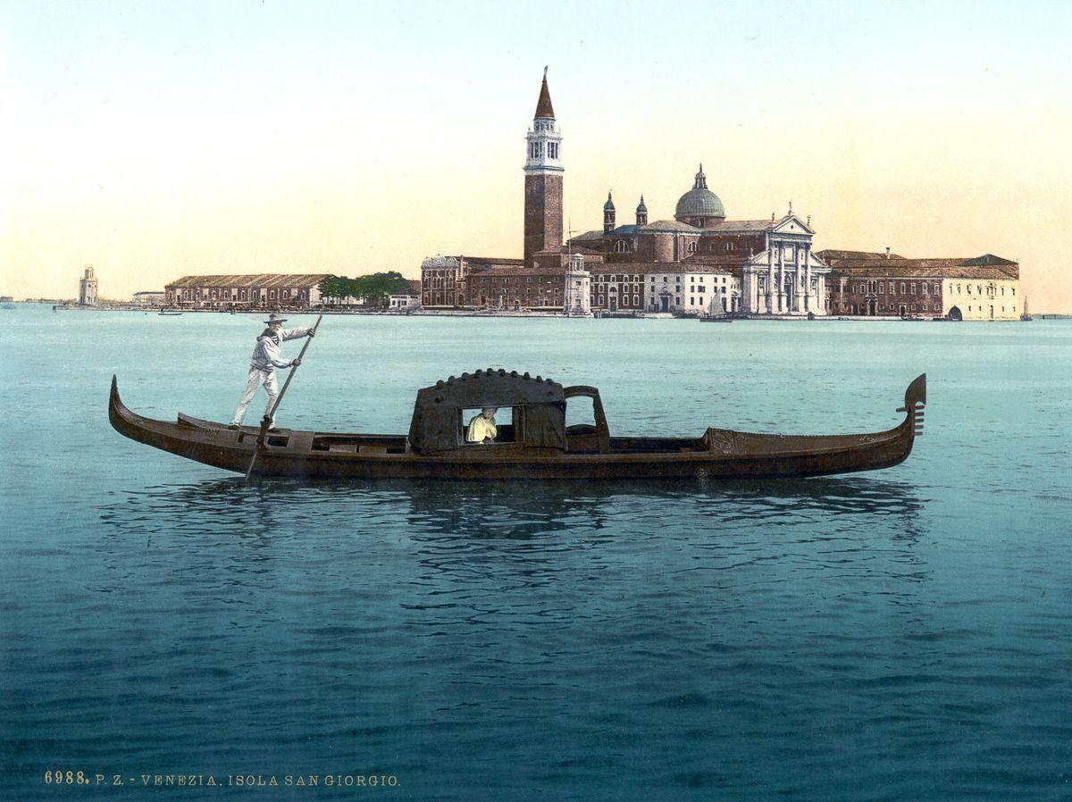 Венеция в цветных открытках 1890 года 11