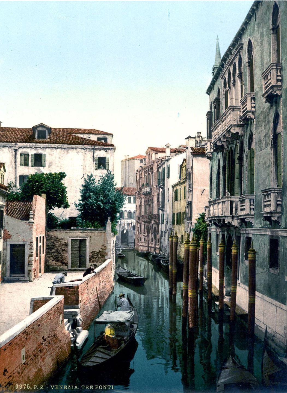 Венеция в цветных открытках 1890 года 12