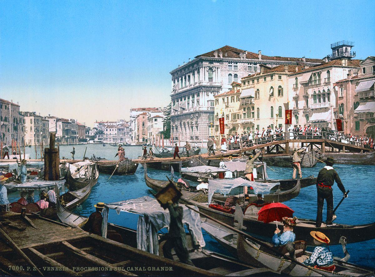 Венеция в цветных открытках 1890 года 13
