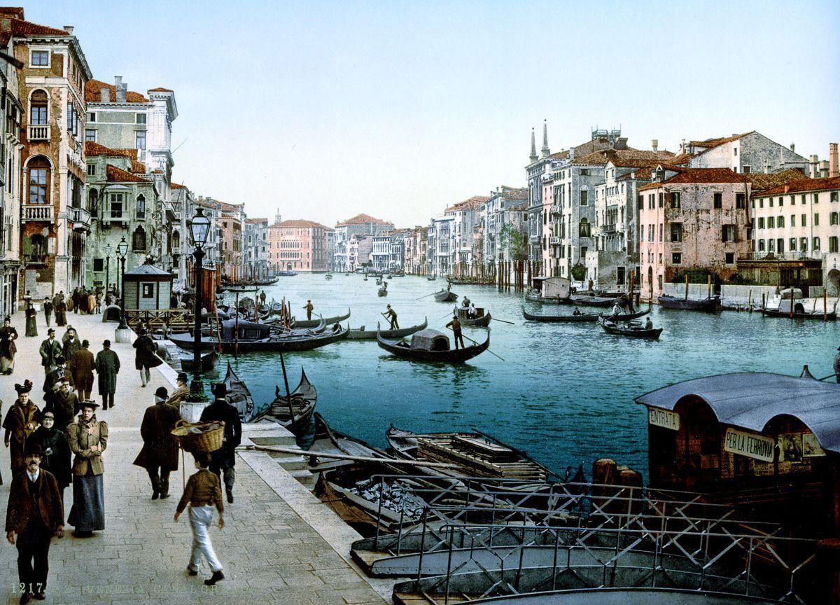 Венеция в цветных открытках 1890 года 15