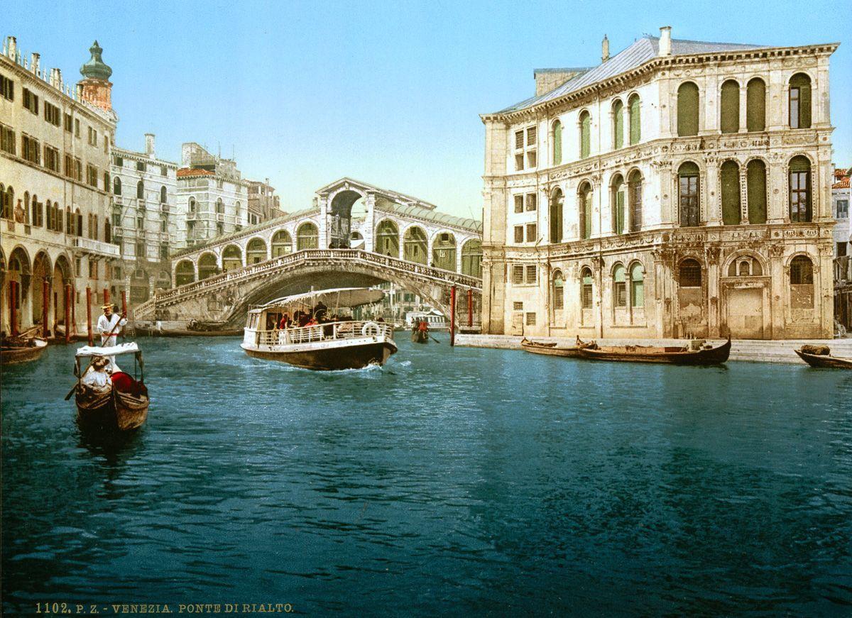 Венеция в цветных открытках 1890 года 16