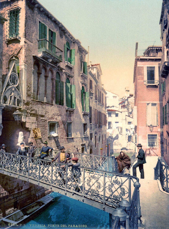 Венеция в цветных открытках 1890 года 17