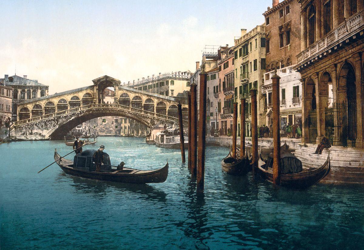 Венеция в цветных открытках 1890 года 18