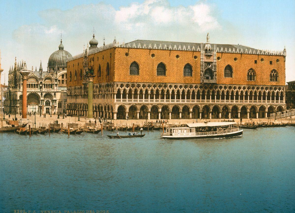 Венеция в цветных открытках 1890 года 3