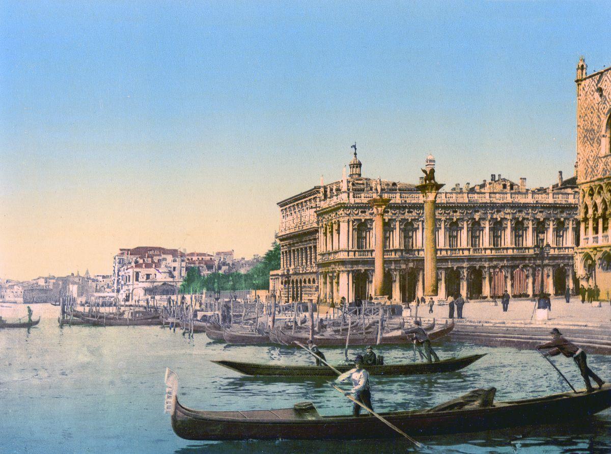 Венеция в цветных открытках 1890 года 5